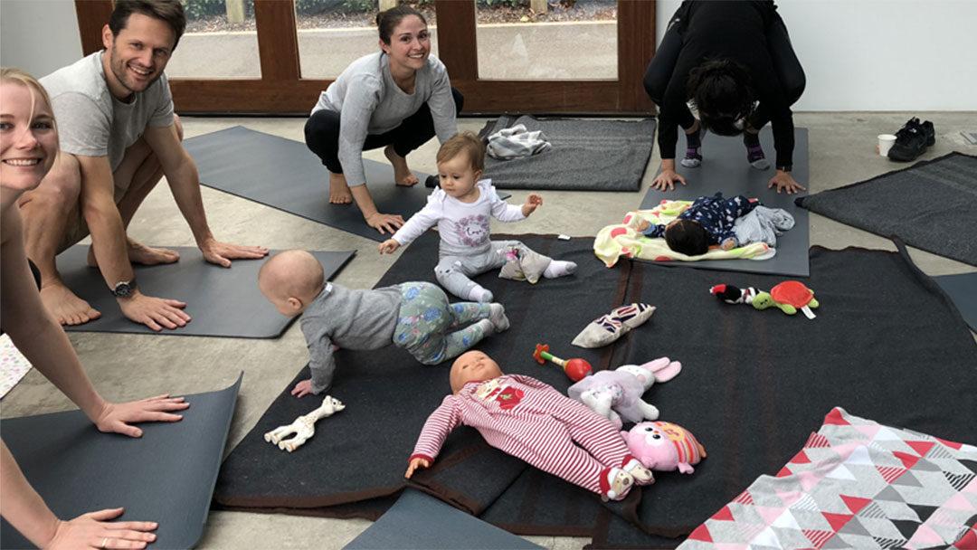 Baby Yoga Thursday at Nishi