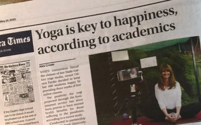 Flow Yoga featured in the Canberra Times